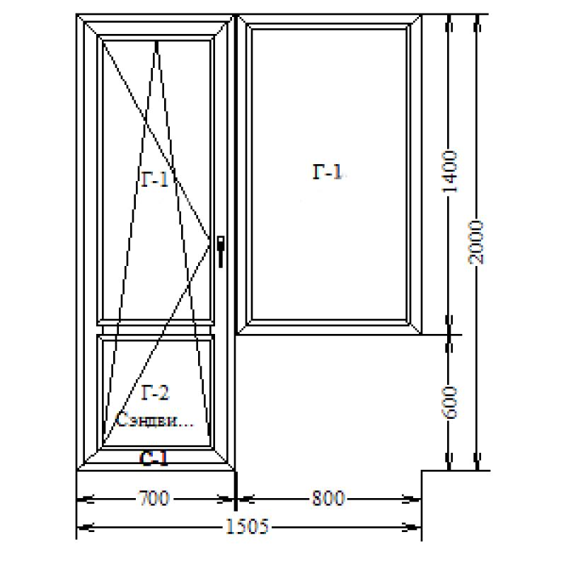 GEALAN S9000 + Siegenia Titan AF балконный блок