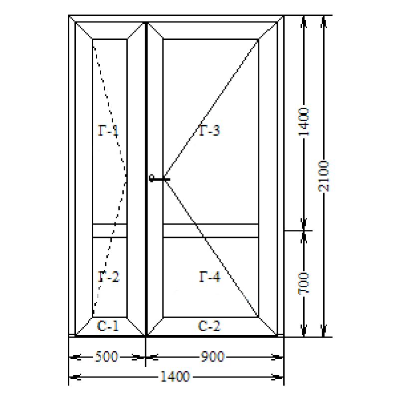 Алюминий теплый (AGS-68) 1400х2100