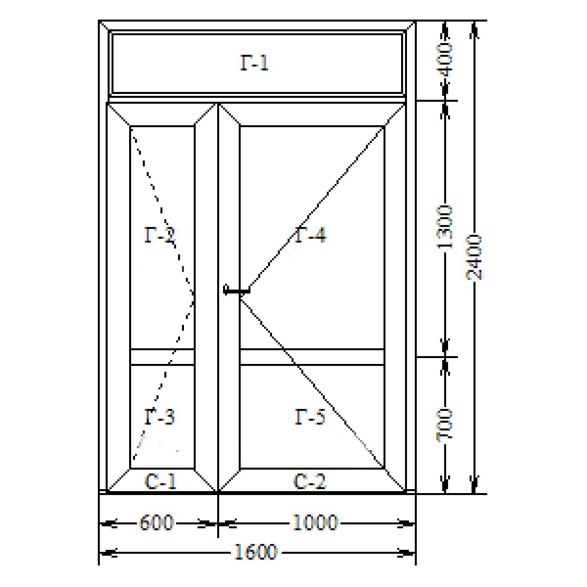 Алюминий теплый (AGS-68) 1600х2100
