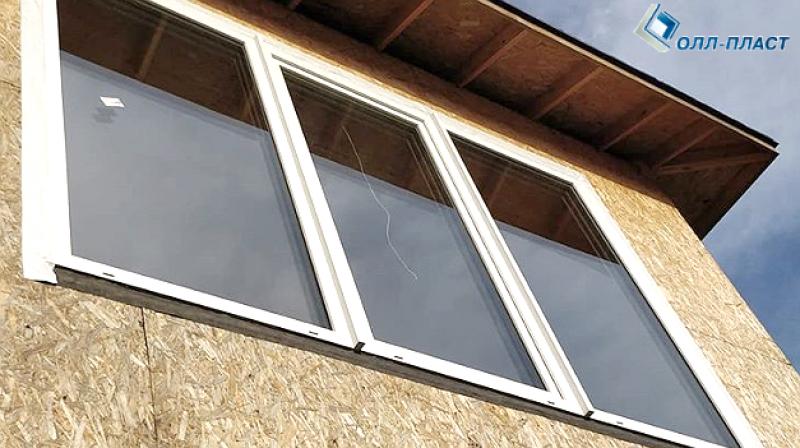 окна ПВХ GEALAN S 9000 со вклееными cтеклопакетами