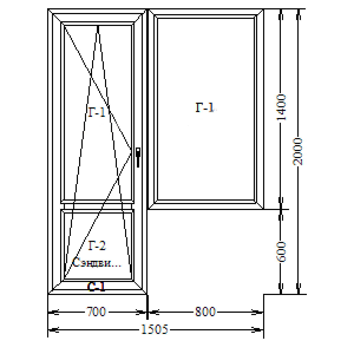 GEALAN S8000 IQ + Siegenia Titan AF балконный блок