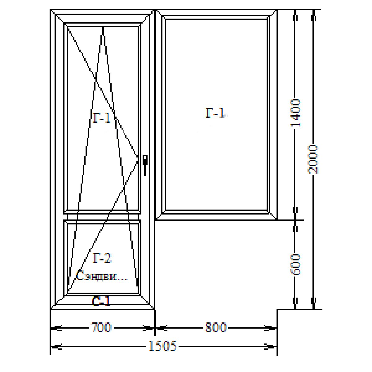 NOVOTEX 58 + Axor 1500x2100 балконный блок